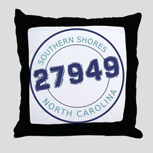 Southern Shores, North Carolina Zip C Throw Pillow