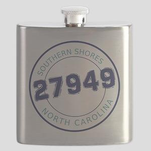 Southern Shores, North Carolina Zip Code Flask