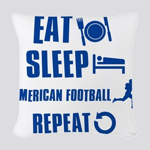 American Football Woven Throw Pillow