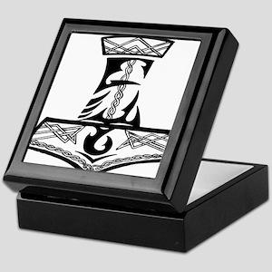 Black Celtic Thors Hammer Keepsake Box