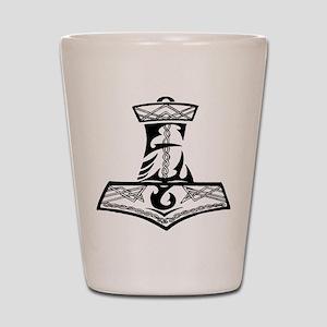 Black Celtic Thors Hammer Shot Glass
