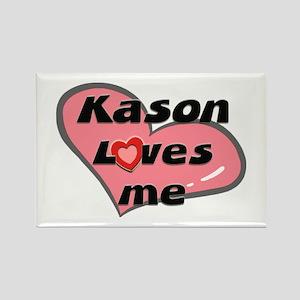 kason loves me Rectangle Magnet