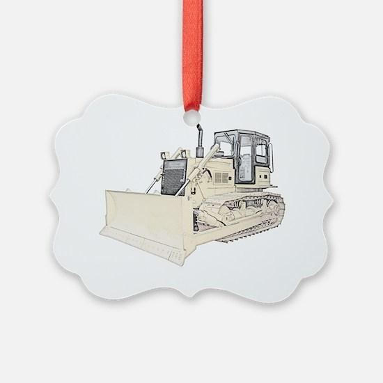Bulldozer in color Ornament