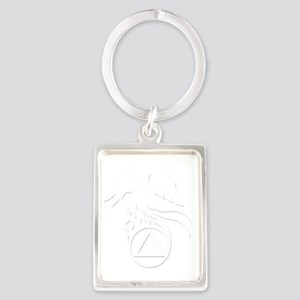 AA Phoenix White Portrait Keychain