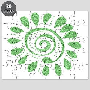 green dots wild spiral Puzzle
