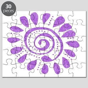 purple wild spiral Puzzle