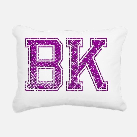BK, Vintage Rectangular Canvas Pillow