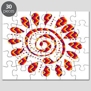 tribal wild spiral Puzzle