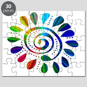 rainbow wild spiral Puzzle