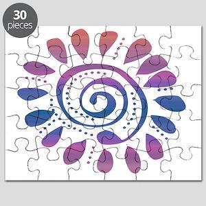 mauve wild spiral Puzzle