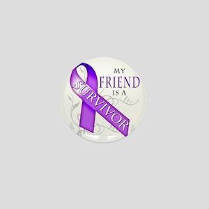 My Friend is a Survivor (purple) Mini Button