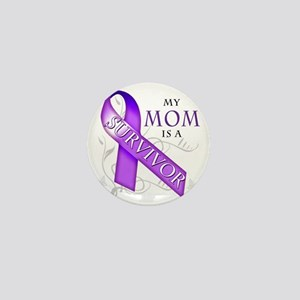 My Mom is a Survivor (purple) Mini Button