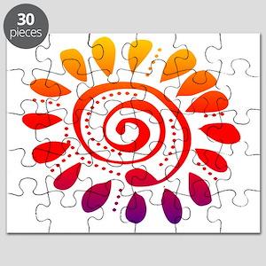 sunset wild spiral Puzzle