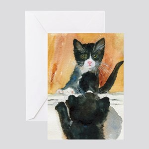 Kitten in the Mirror Greeting Card