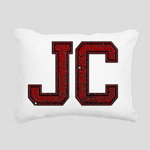 JC, Vintage Rectangular Canvas Pillow