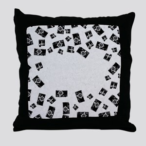 Old Cameras Throw Pillow
