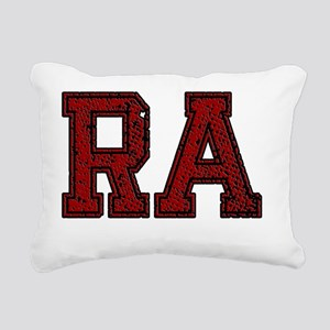 RA, Vintage Rectangular Canvas Pillow
