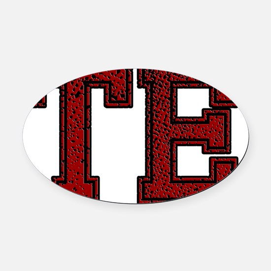 TE, Vintage Oval Car Magnet