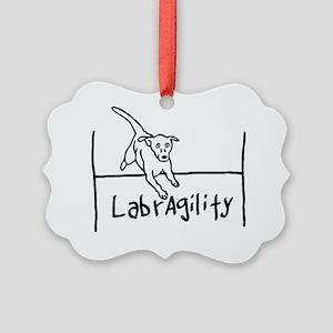 Labrador Agility Picture Ornament