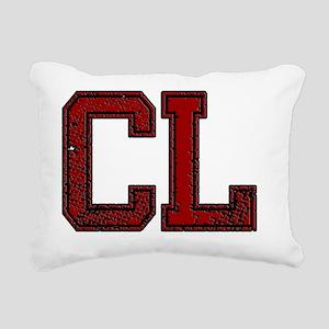 CL, Vintage Rectangular Canvas Pillow