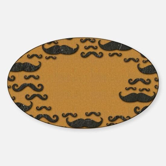 Vintage Mustache Sticker (Oval)