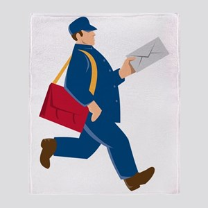 mailman postal worker delivery man Throw Blanket
