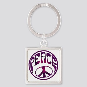 deep peace Square Keychain