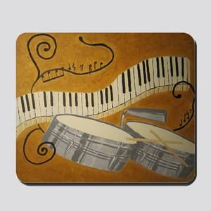 salsa painting with timbales and piano Mousepad