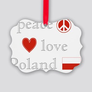 PeaceLovePoland Picture Ornament