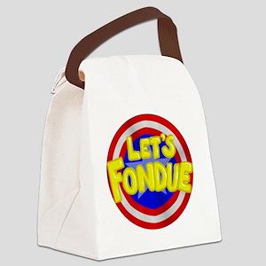 fondue Canvas Lunch Bag