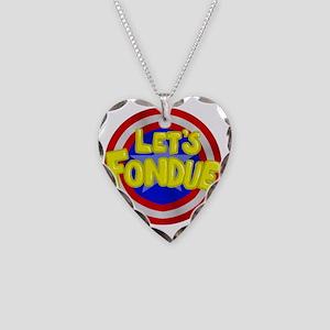 fondue Necklace Heart Charm