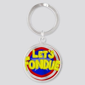 fondue Round Keychain