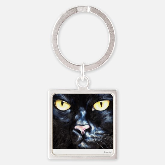 I am Night Square Keychain