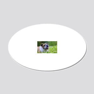 Nora Bulldog 20x12 Oval Wall Decal