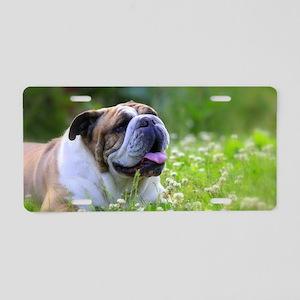 Nora Bulldog Aluminum License Plate