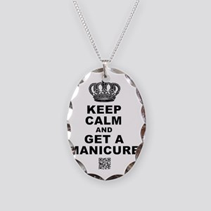 Keep Calm Large Necklace Oval Charm