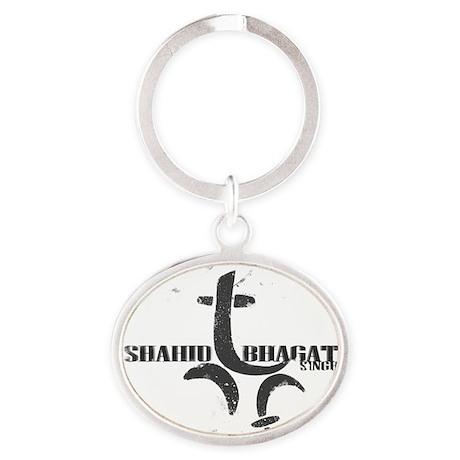 shahid bhagat singh Oval Keychain