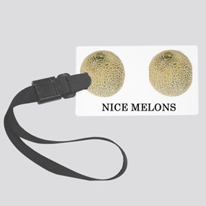 nice melons Large Luggage Tag