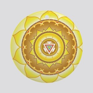 Solar Plexus Chakra Round Ornament