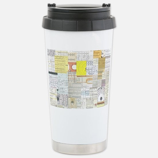 Slide Rule Wallpaper Stainless Steel Travel Mug