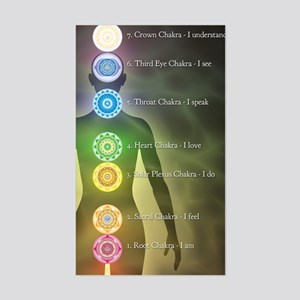 Chakra Energy Centers Sticker (Rectangle)