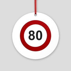 80 mph Round Ornament