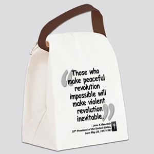 Kennedy Revolution Quote Canvas Lunch Bag