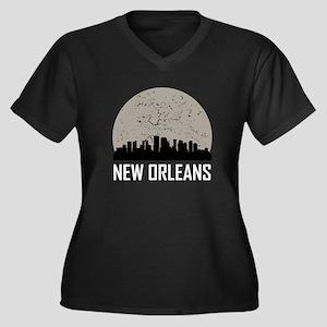 New Orleans Full Moon Skyline Plus Size T-Shirt