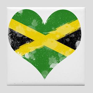 A Jamaican Heart Tile Coaster