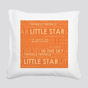 twinkle twinkle Square Canvas Pillow