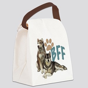 Siberian Husky BFF Canvas Lunch Bag