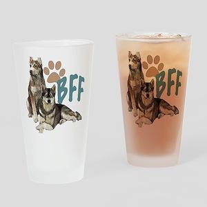 Siberian Husky BFF Drinking Glass