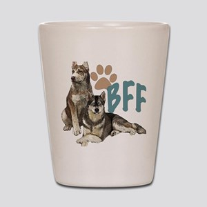 Siberian Husky BFF Shot Glass