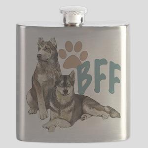 Siberian Husky BFF Flask